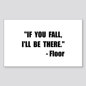 Fall Floor Quote Sticker