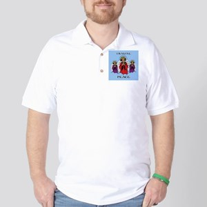 Blue Imagine Peace Golf Shirt