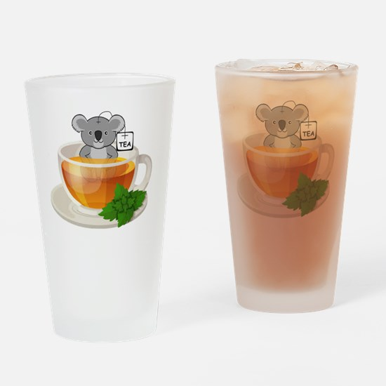 Cute Funny tea cup Drinking Glass