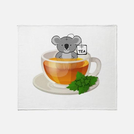 Koala-Tea (Quality) Throw Blanket