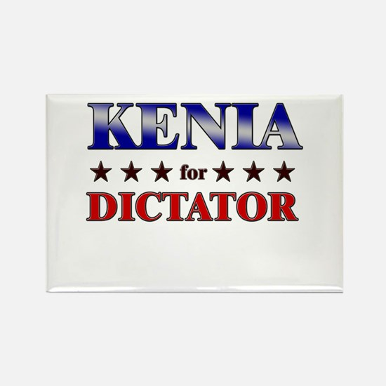 KENIA for dictator Rectangle Magnet