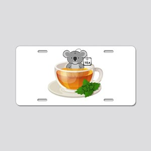 Koala-Tea (Quality) Aluminum License Plate