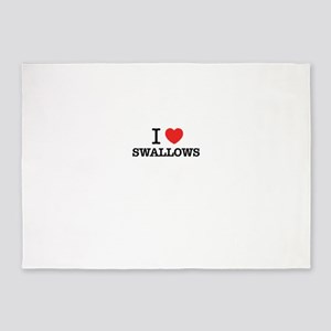 I Love SWALLOWS 5'x7'Area Rug