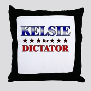 KELSIE for dictator Throw Pillow