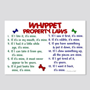 Whippet Property Laws 2 Postcards (Package of 8)