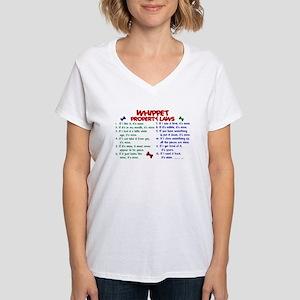 Whippet Property Laws 2 Women's V-Neck T-Shirt