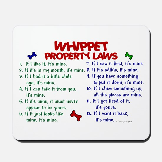 Whippet Property Laws 2 Mousepad