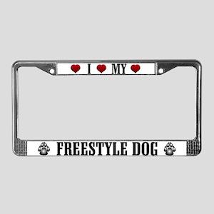 Freestyle Dog License Plate Frame