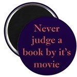 Never judge a book by it's movie Magnet