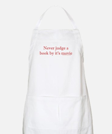 Never judge a book by it's movie BBQ Apron