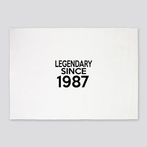 Legendary Since 1987 5'x7'Area Rug