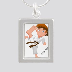 PERSONALIZED KARATE BOY Necklaces