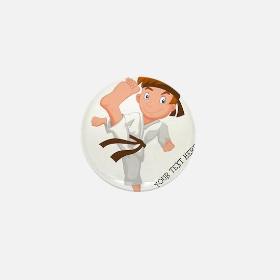 PERSONALIZED KARATE BOY Mini Button