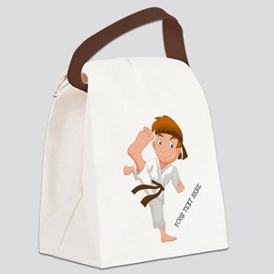 PERSONALIZED KARATE BOY Canvas Lunch Bag
