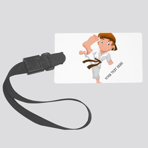 PERSONALIZED KARATE BOY Luggage Tag