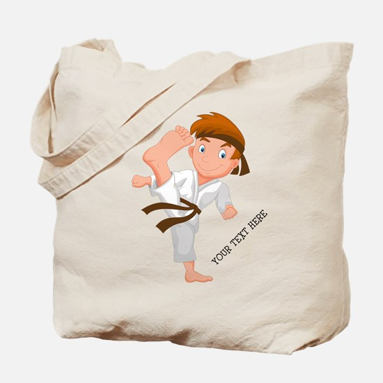 PERSONALIZED KARATE BOY Tote Bag