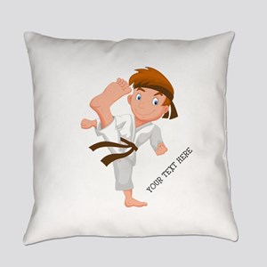 PERSONALIZED KARATE BOY Everyday Pillow
