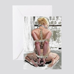 Blonde Submissiv Greeting Card