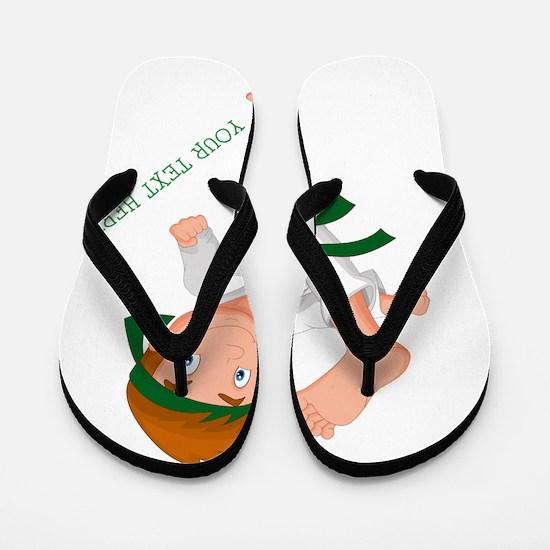 PERSONALIZED KARATE BOY Flip Flops