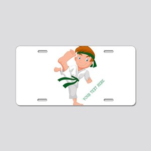 PERSONALIZED KARATE BOY Aluminum License Plate