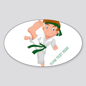 PERSONALIZED KARATE BOY Sticker