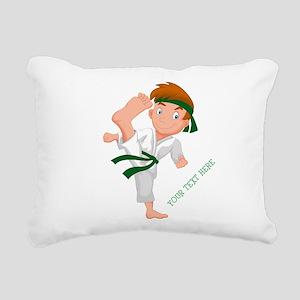 PERSONALIZED KARATE BOY Rectangular Canvas Pillow