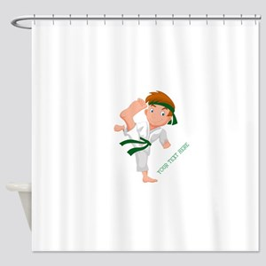 PERSONALIZED KARATE BOY Shower Curtain