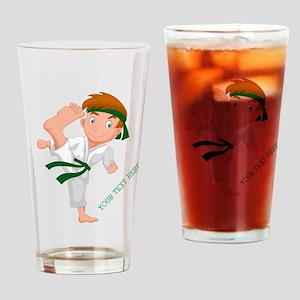PERSONALIZED KARATE BOY Drinking Glass