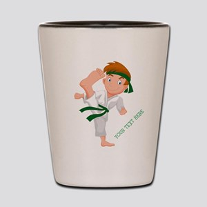 PERSONALIZED KARATE BOY Shot Glass