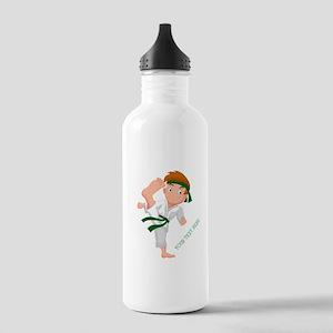 PERSONALIZED KARATE BOY Water Bottle