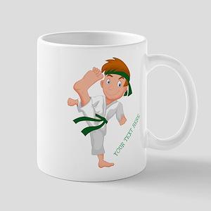 PERSONALIZED KARATE BOY Mugs