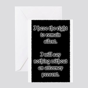 Miranda Rights Case Greeting Cards