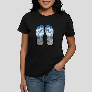 thftd_flip_flops Women's Cap Sleeve T-Shirt