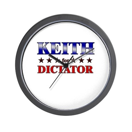 KEITH for dictator Wall Clock