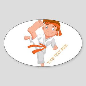 PERSONALIZED KARATE BOY Sticker