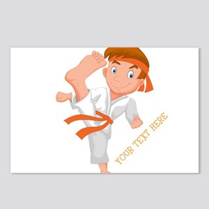 PERSONALIZED KARATE BOY Postcards (Package of 8)