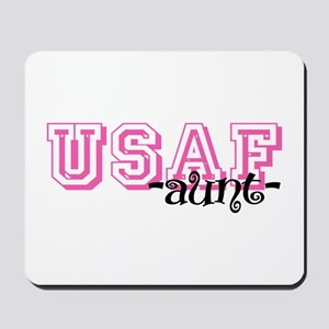USAF Aunt - Jersey Style Mousepad