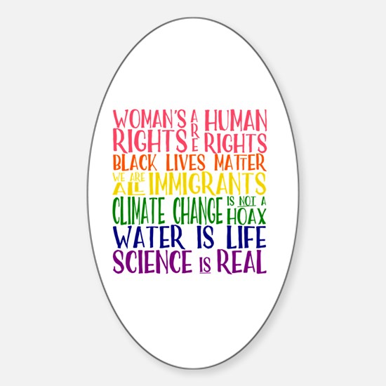 Funny Changing lives Sticker (Oval)