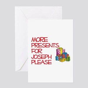 More Presents For Joseph Greeting Card