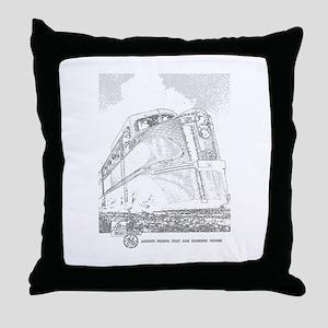 1941 Rock Island Locomotives Throw Pillow