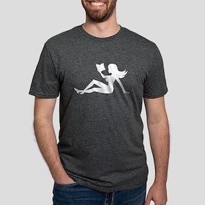 bookishmudflapgirlwhite T-Shirt