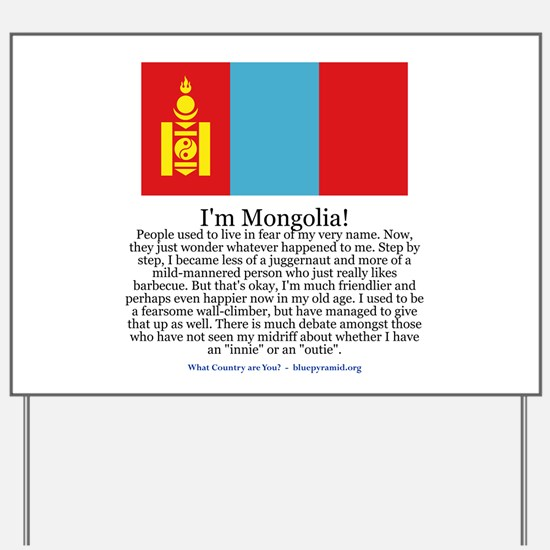 Mongolia Yard Sign