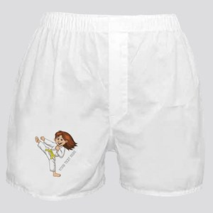 PERSONALIZED KARATE GIRL Boxer Shorts