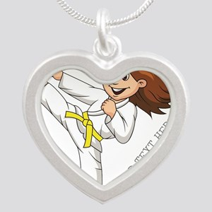 PERSONALIZED KARATE GIRL Necklaces