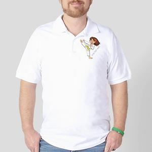 PERSONALIZED KARATE GIRL Golf Shirt