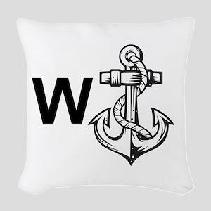 W Anchor *Wanker* Woven Throw Pillow