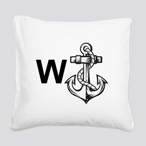 W Anchor *Wanker* Square Canvas Pillow
