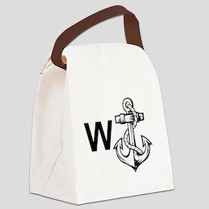 W Anchor *Wanker* Canvas Lunch Bag