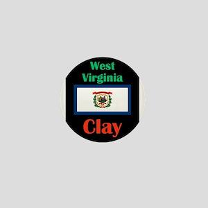 Clay West Virginia Mini Button