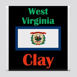 Clay West Virginia Tile Coaster